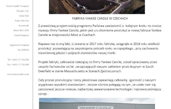 Made in Czech Republic - Yankee Candle Letter PL_Strona_1